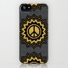 Peace Mandala Pattern Print Black Edition Slim Case iPhone (5, 5s)