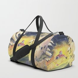 Skiing Art Duffle Bag