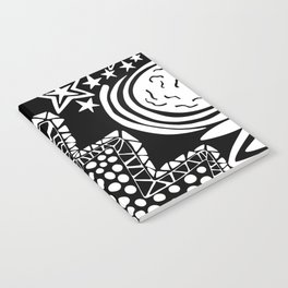 Soul Of The Dream Desert - Star Gazer (Black and White Edition) Notebook