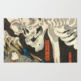 Utagawa Kuniyoshi - Takiyasha the Witch and the Skeleton Spectre Rug