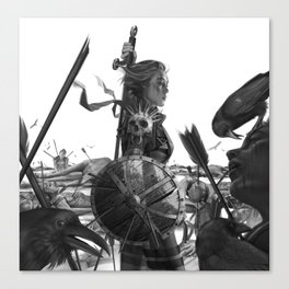 Warrior 6 Battlefield Canvas Print