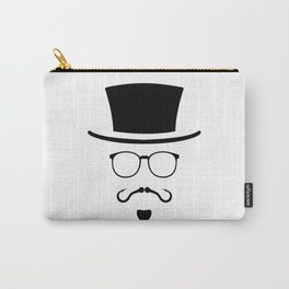 Hipster Mustache Fisherman Carry-All Pouch