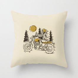 Classic Biker Throw Pillow