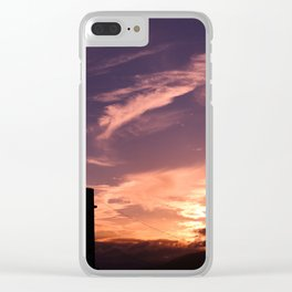 Dreamy Golden Sunset Clear iPhone Case