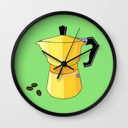 Yellow Rainbow Espresso Wall Clock