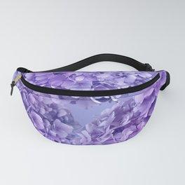 Painterly purple blue hydrangea flowers Fanny Pack