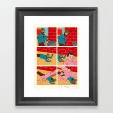 Touchdown Framed Art Print