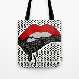 Chocolate Lover Nutty Lips Tote Bag