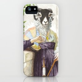The Sheep Spinner iPhone Case