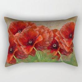 Poppy Resistance - Flowers... make everything better Rectangular Pillow