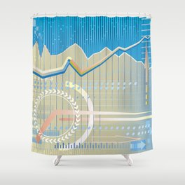 financial background Shower Curtain