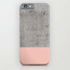 Pale Pink on Concrete iPhone 6s Slim Case