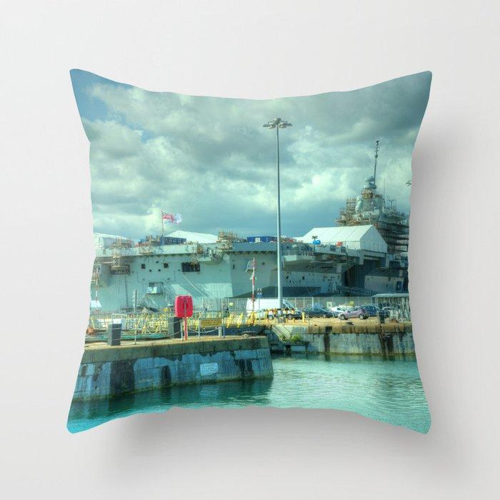 HMS Queen Elizabeth Throw Pillow