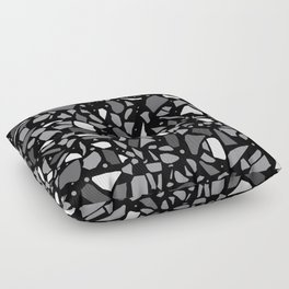 Terrazzo Spot Black 2 Floor Pillow
