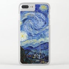 Starry Night by Vincent Van Gogh Clear iPhone Case