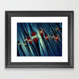 Brain synapses Framed Art Print