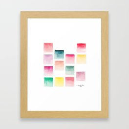 Summer Paint Chips Flat Lay Photograph Framed Art Print