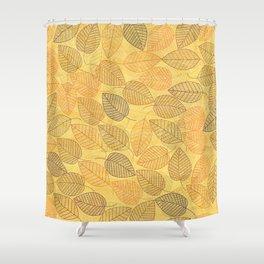 LEAVES ENSEMBLE YELLOW Shower Curtain