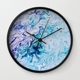 Oceanic Marble Wall Clock