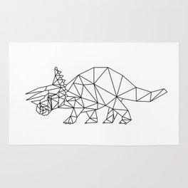 Prehistoric Geometric Triceratops Dinosaur Rug