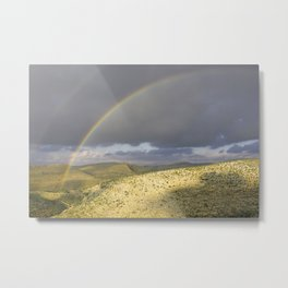 """If you want the RAINBOW you've got to deal with the rain"" Metal Print"