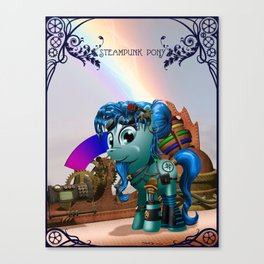 A steampunk pony Canvas Print