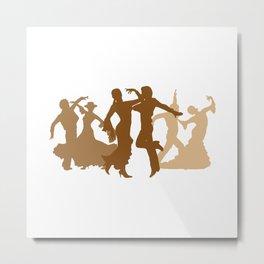 Flamenco Dancers Illustration  Metal Print