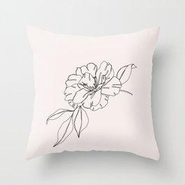 Tropical flower illustration - Mona I Throw Pillow