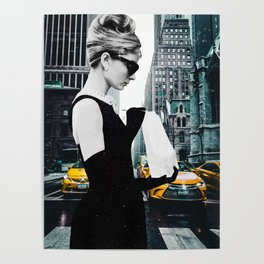 """Photo Montage """"Audrey in The City"""" Poster"""
