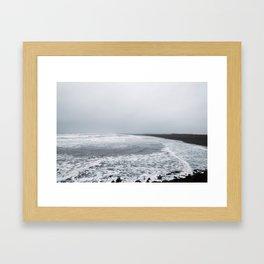 Black Sand Beach, Iceland Framed Art Print