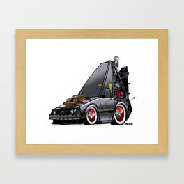 Back To The Future Part 3 - DeLorean Time Machine Framed Art Print