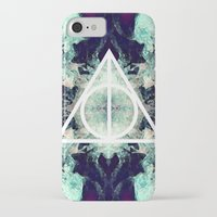 deathly hallows iPhone & iPod Cases featuring Deathly Hallows by Christine DeLong Creative Studio