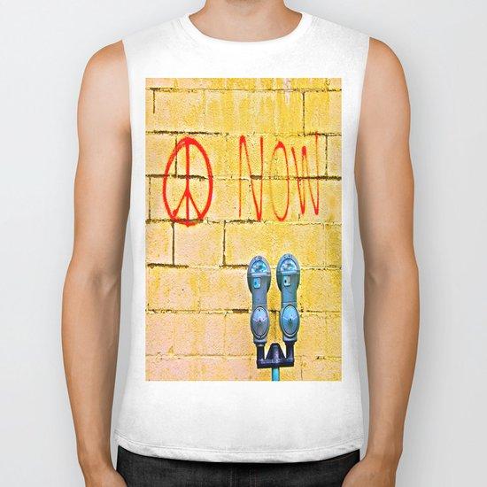 Peace Now! Biker Tank