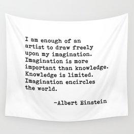 Albert Einstein Quote 08 Wall Tapestry