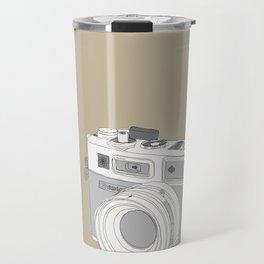 "Yashica Camera - ""Say Cheese"" - soft-brown Travel Mug"