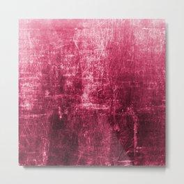 Pink Distressed & Textured Paper Design Metal Print