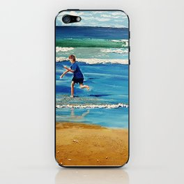 You throw the sand against the wind iPhone Skin