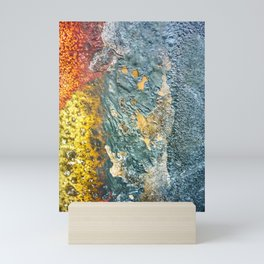 Colorful Abstract Texture Mini Art Print