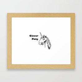 Clever Pony Framed Art Print