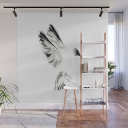 Ink and Charcoal Bird Wall Mural