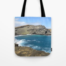 Green Beach and Turquoise Ocean Tote Bag
