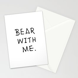 Bear with me 2 Stationery Cards