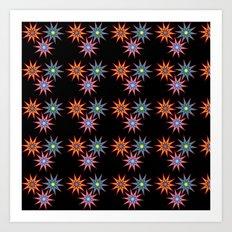 Colorful Stars II Art Print