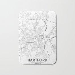 Minimal City Maps - Map Of Hartford, Connecticut, United States Bath Mat