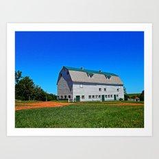 Beautiful Barn under Blue Sky Art Print