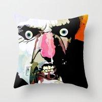 frank Throw Pillows featuring Frank by Alvaro Tapia Hidalgo
