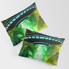 Watercolor UFO Pillow Sham