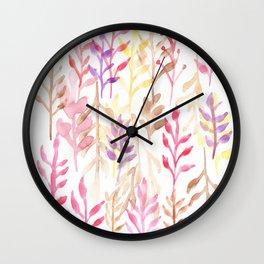 Watercolour Tree 2 Wall Clock