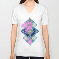 blues V-neck T-shirts featuring BLUES by Love &Ink