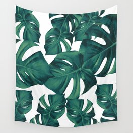 Monstera Leaves Pattern #3 #tropical #decor #art #society6 Wall Tapestry